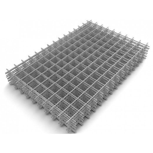 Сетка стальная сварная яч.100х100 1,5х2 толщина прута 4мм.