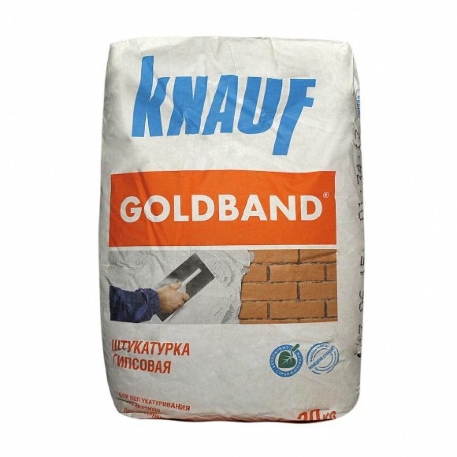 Штукатурка гипсовая КНАУФ-Гольдбанд 30 кг