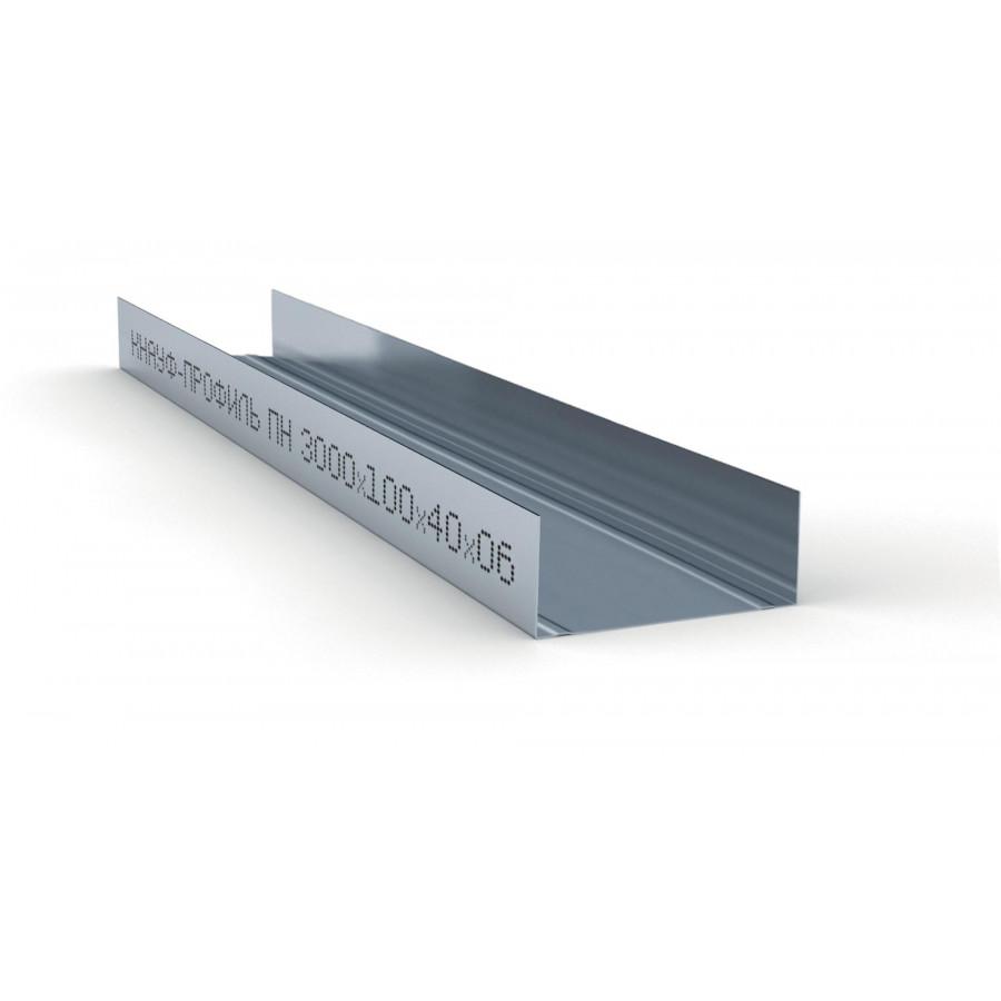 Профиль направляющий ПН 100х40х0,6мм (3м) КНАУФ