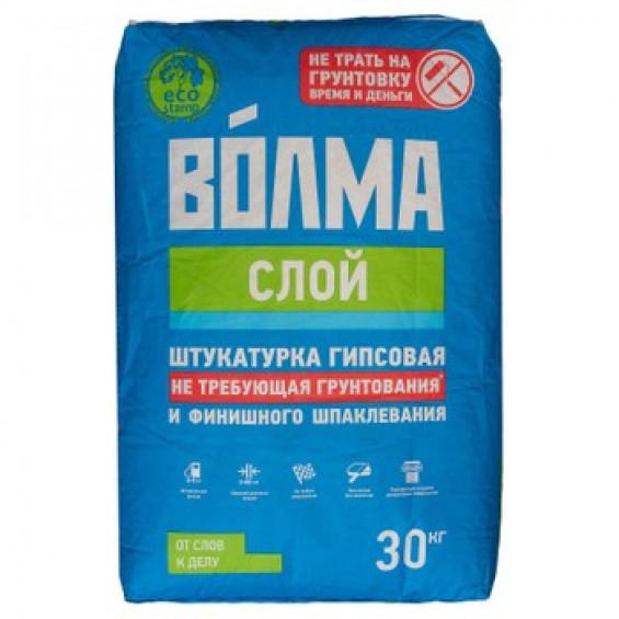 Сухая гипсовая штукатурная смесь Волма слой слой 30 кг (Белый)