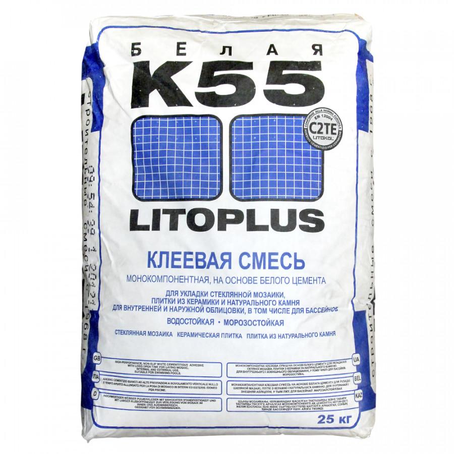 Литокол К55 Плиточный клей белый - 25 кг