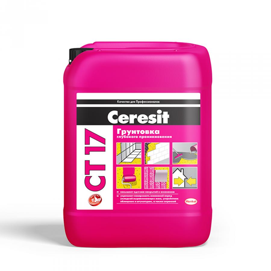 Грунтовка Ceresit CT-17 (Церезит СТ 17) - 10 л.