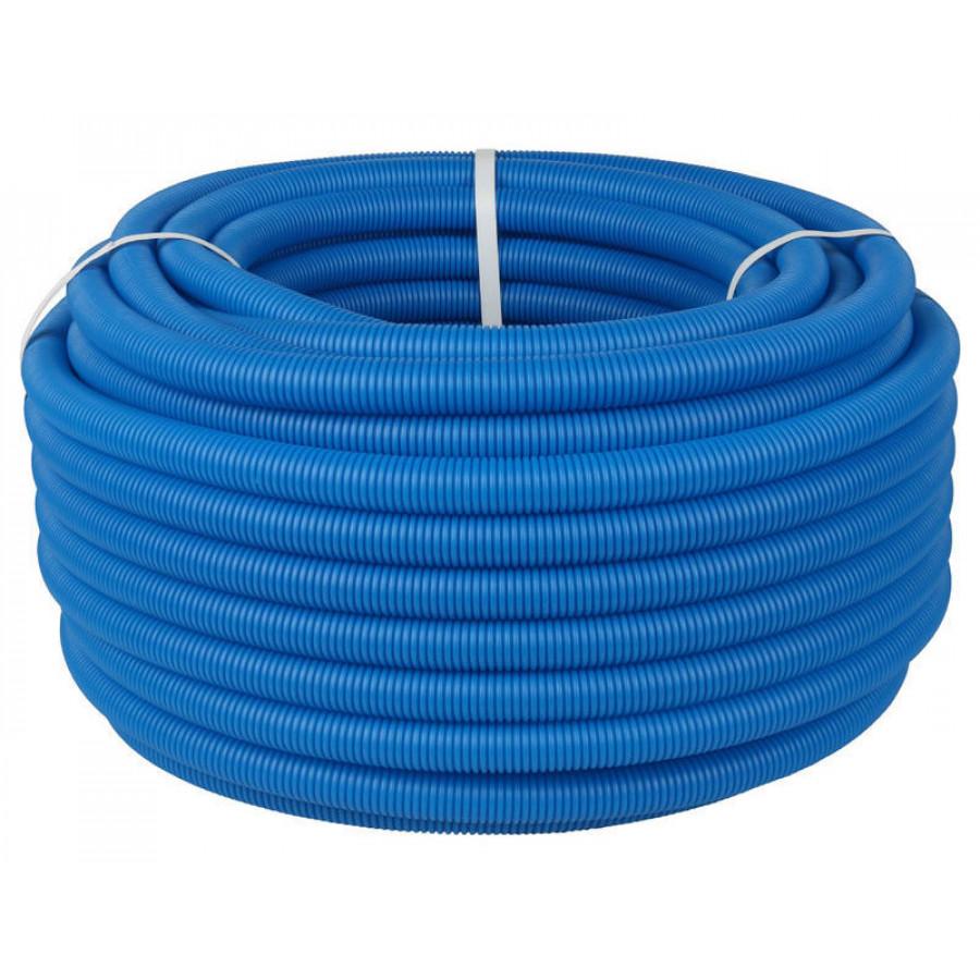 Труба гофрированная одностенная синяя диаметр 50 мм